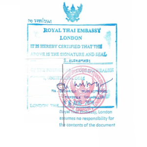 Thailand Attestation