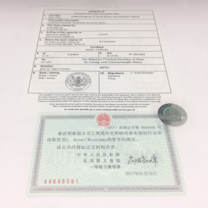 sample chinese attestation