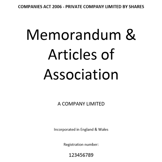 Memorandum & Articles