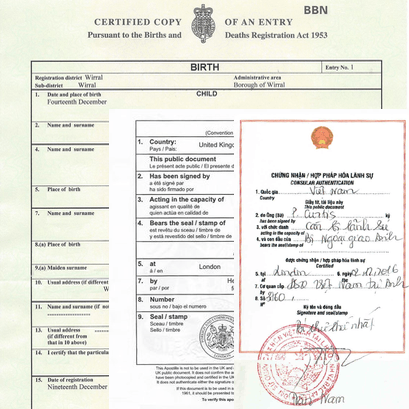 Vietnam Attestation for Personal Dcouments