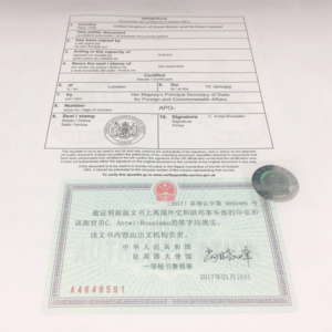 China attestation example